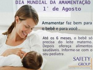 dia da amamentação - 1° de agosto